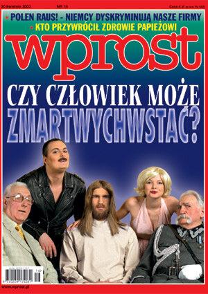 Okładka tygodnika Wprost nr 16/2003 (1064)