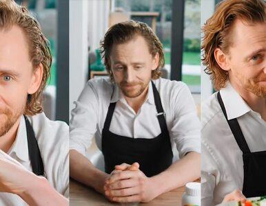 Tom Hiddleston w chińskiej reklamie suplementów dla kobiet. Wygląda,...