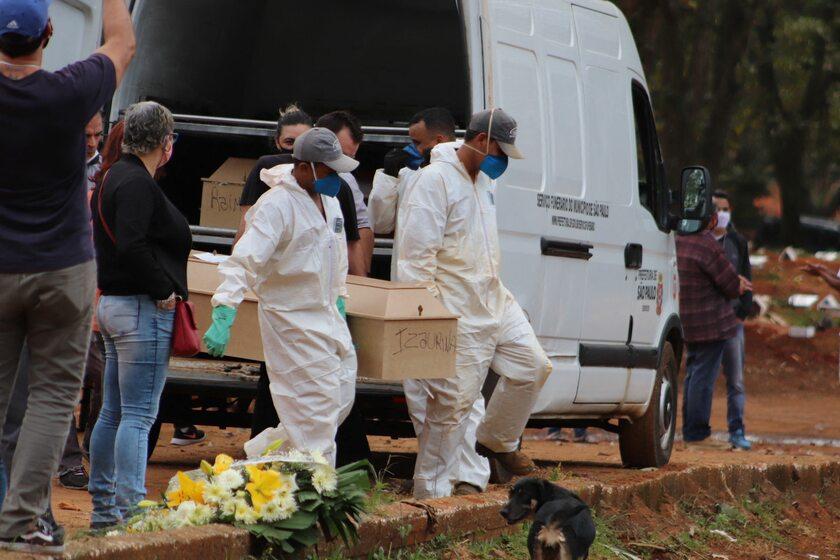 Pochówek osoby zmarłej z powodu COVID-19 w Brazylii