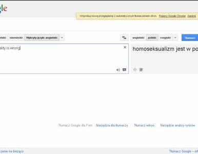Google lubi homoseksualistów, ale... tylko po polsku