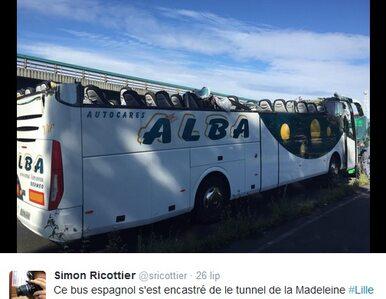 """Autobus nie zmieścił się w tunelu. """"Mogło się skończyć o wiele gorzej"""""""