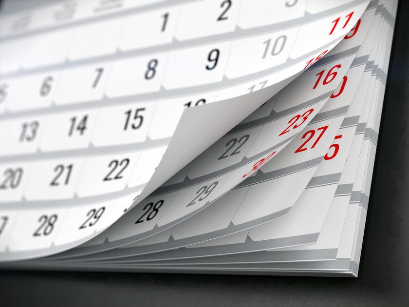 Kalendarz, zdjęcie ilustracyjne