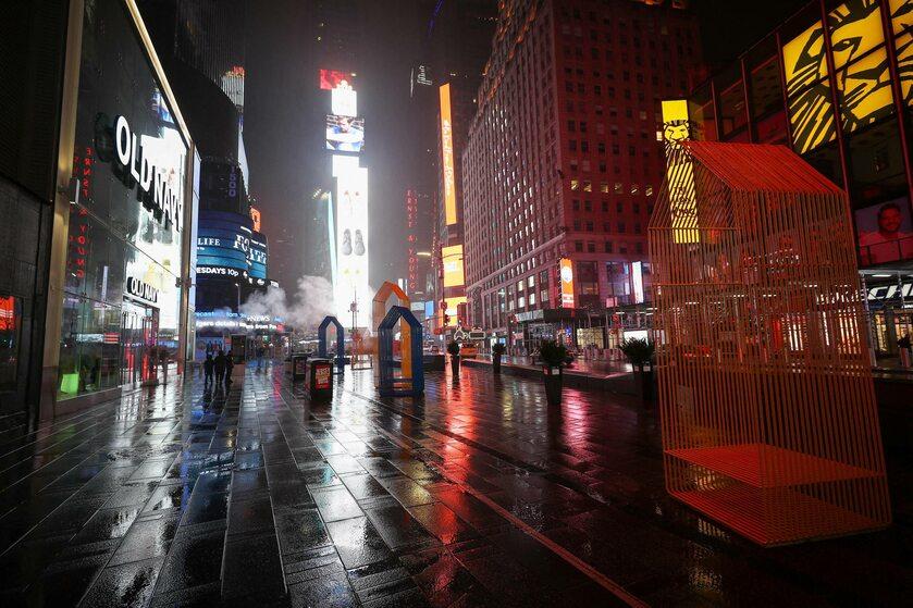 Opustoszały Time Square