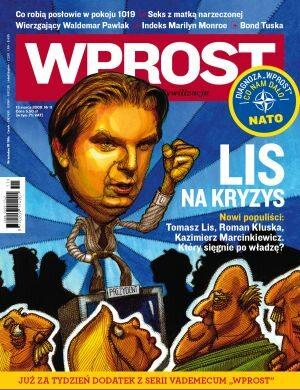 Okładka tygodnika Wprost nr 11/2009 (1366)
