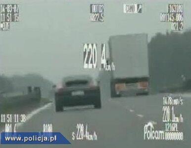 28-latek pędził porsche 226 km/h. Mandat - 1000 zł