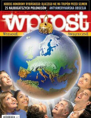 Okładka tygodnika Wprost nr 51/52/2003 (1099)