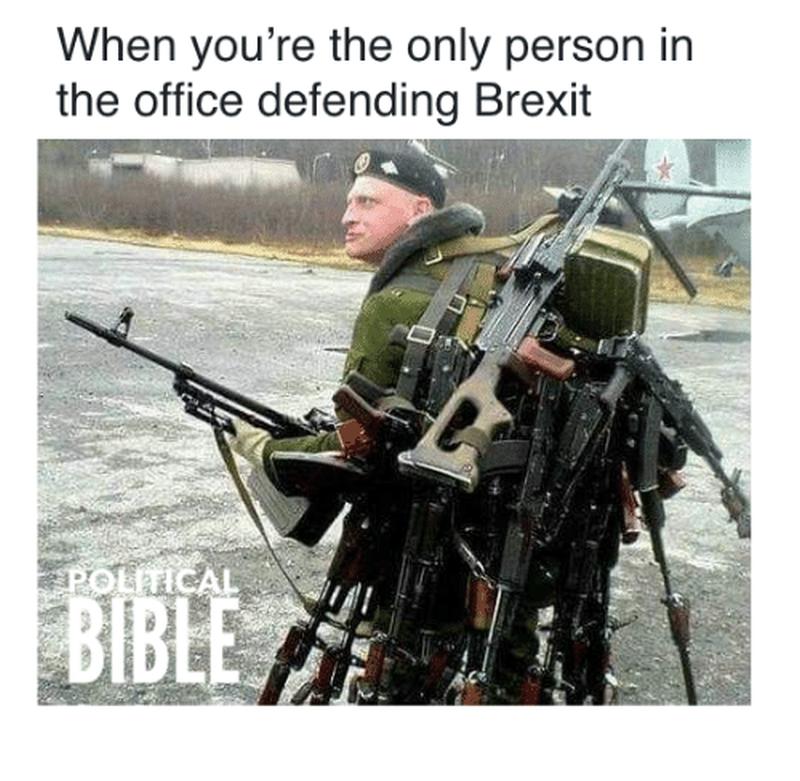 Kiedy jesteś jedyną osobą w biurze, która broni decyzji o brexicie