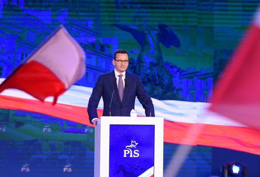 Premier Mateusz Morawiecki na konwencji PiS