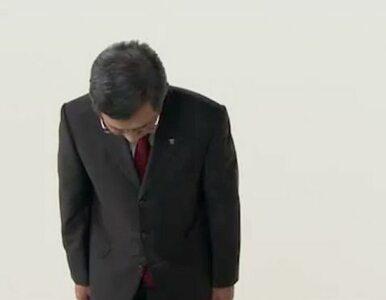 Szef TEPCO kłania się i odchodzi