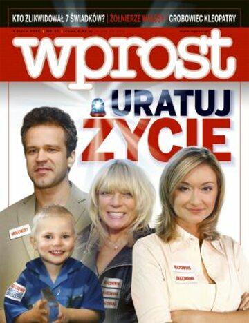 Okładka tygodnika Wprost nr 27/2008 (1332)