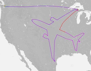 Pilot urozmaicił sobie lot. Potraktował niebo jak kartkę papieru i...