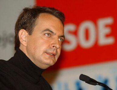 """Zapatero chce """"restrykcyjnego i surowego budżetu"""""""