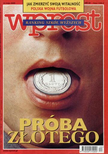 Okładka tygodnika Wprost nr 20/2000 (911)