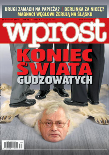 Okładka tygodnika Wprost nr 39/2003 (1087)