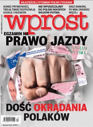 Okładka tygodnika Wprost nr 17/2015 (1676)