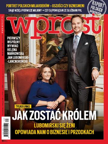 Okładka tygodnika Wprost nr 44/2018 (1859)
