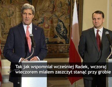 Wpadka Johna Kerry'ego podczas konferencji z Sikorskim