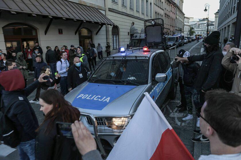Protest w Warszawie 16 maja