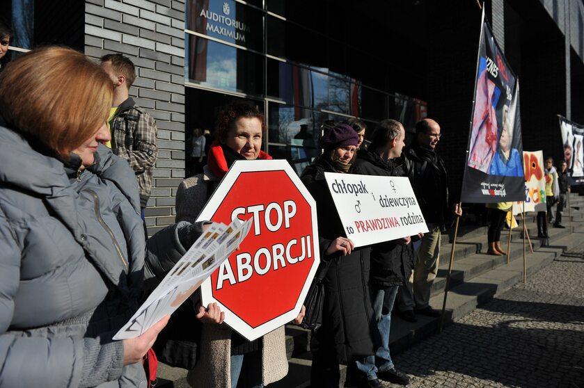 Jeden z protestów przeciwko aborcji
