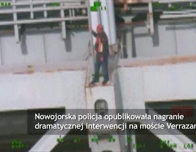 Policja uratowała desperata przed skokiem z mostu