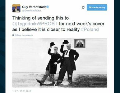 """Verhofstadt proponuje """"Wprost"""" kolejną okładkę, po czym wpis znika i wraca"""