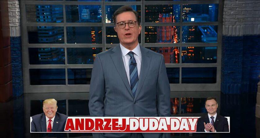 Kadr z programu The Late Show