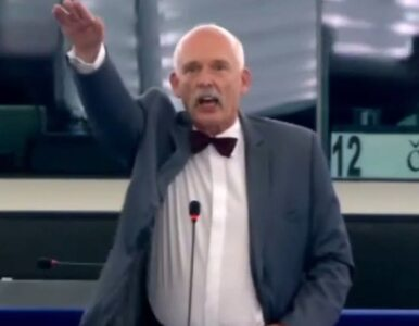 """Korwin-Mikke hajlował w PE. """"Ein Reich, ein Volk, ein ticket!"""""""