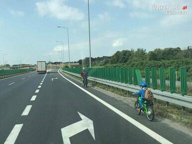 Kierowcy byli zdumieni. Ojciec zabrał 6-latka na przejażdżkę rowerem po...