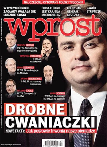 Okładka tygodnika Wprost nr 47/2014 (1655)