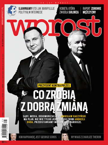 Okładka tygodnika Wprost nr 31/2017 (1797)