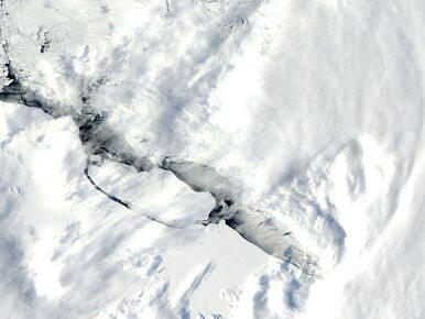Czterokrotnie większa od Londynu góra lodowa zniszczy Larsen C? NASA...