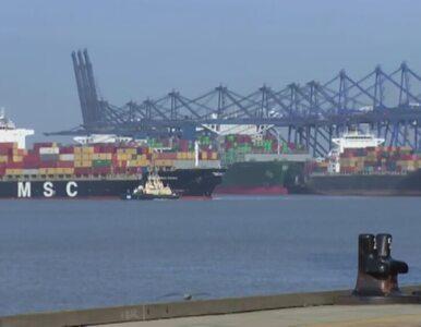Największy kontenerowiec na świecie zawitał do Wielkiej Brytanii