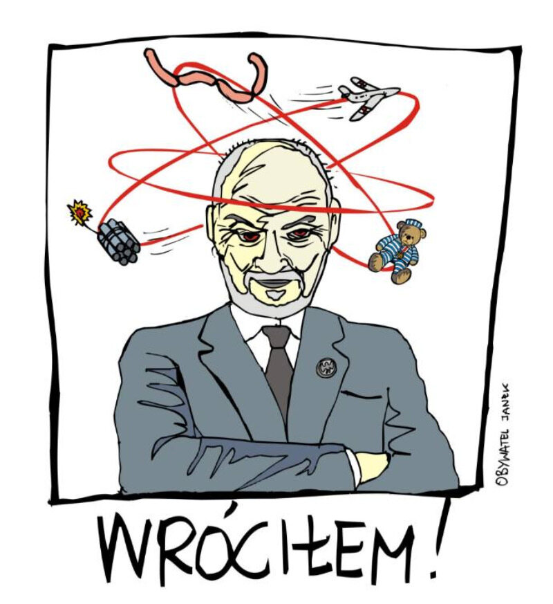 Memy z Antonim Macierewiczem