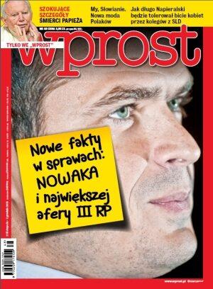 Okładka tygodnika Wprost nr 48/2013 (1605)