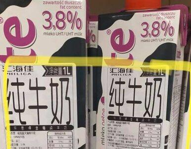 """""""Chińskie"""" mleko na półkach Tesco w Polsce. Firma tłumaczy to """"pomyłką..."""