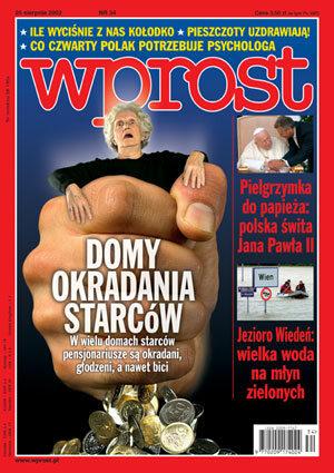 Okładka tygodnika Wprost nr 34/2002 (1030)