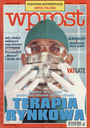 Okładka tygodnika Wprost nr 42/1999 (881)