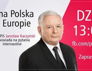 """""""Silna Polska w Europie"""". Czat z Jarosławem Kaczyńskim na Facebooku"""