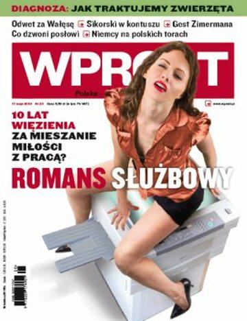Okładka tygodnika Wprost nr 20/2009 (1375)