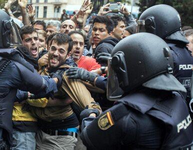 """Ponad 800 rannych w Katalonii. Premier Hiszpanii ogłasza, że """"referendum..."""