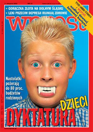 Okładka tygodnika Wprost nr 32/2002 (1028)