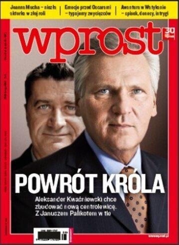Okładka tygodnika Wprost nr 8/2012 (1514)
