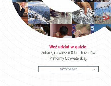 PiS uruchomił stronę z quizem o 8 latach rządów PO