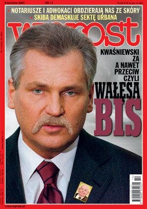 Okładka tygodnika Wprost nr 14/2003 (1062)