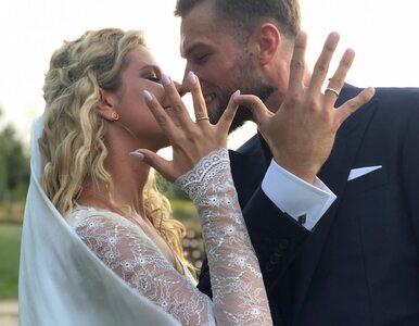 Andrzej Wrona i Zofia Zborowska wzięli ślub. Pies pary wystąpił... na biało