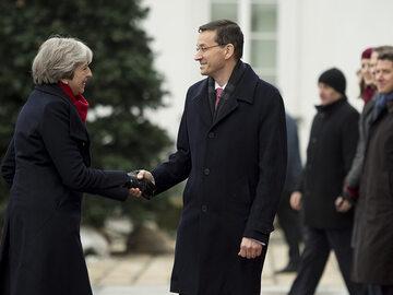Premier Wielkiej Brytanii Theresa May z wizytą w Polsce