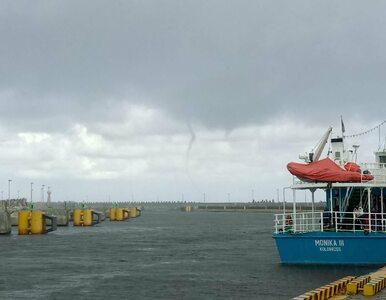 Efektowna trąba wodna w Kołobrzegu. Zjawisko udało się uwiecznić na...