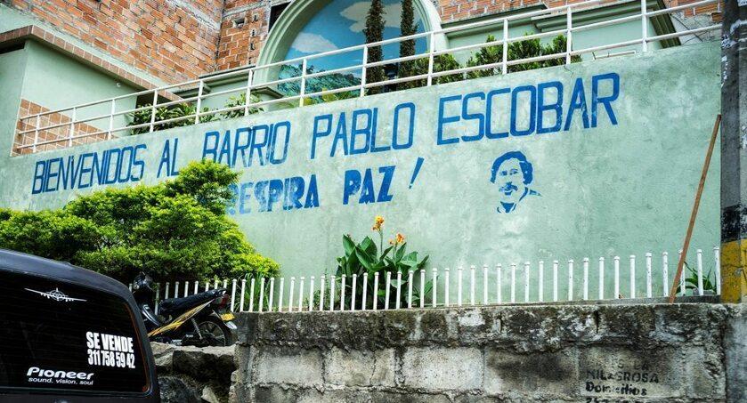 Mural upamiętniający Escobara w jednej z dzielnic Medellín