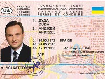 Prawo jazdy Andrzeja Dudy? Na Ukrainie kupisz za 10 hrywien
