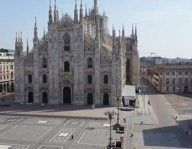 """Puste ulice Mediolanu. Tak wygląda miasto """"z lotu ptaka"""""""